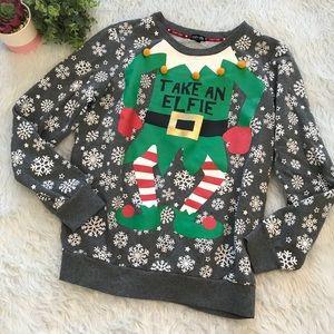 Tops - Take An Elfie Christmas Sweatshirt